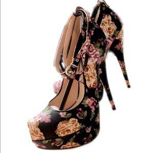 Andrea Floral Heels